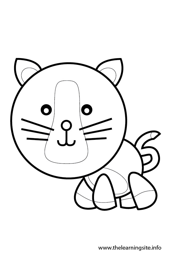 coloring-page-outline-animals-cat