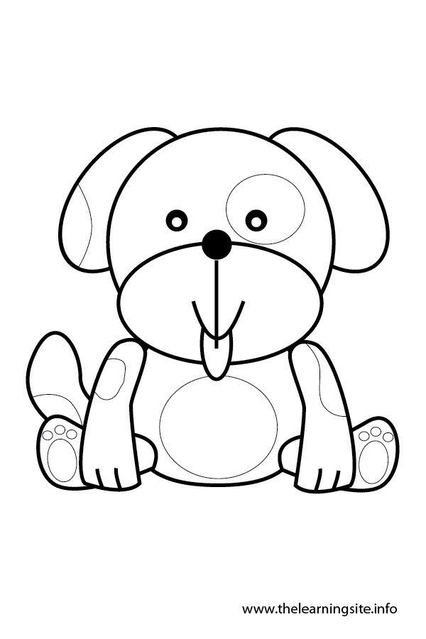 coloring-page-outline-animals-dog