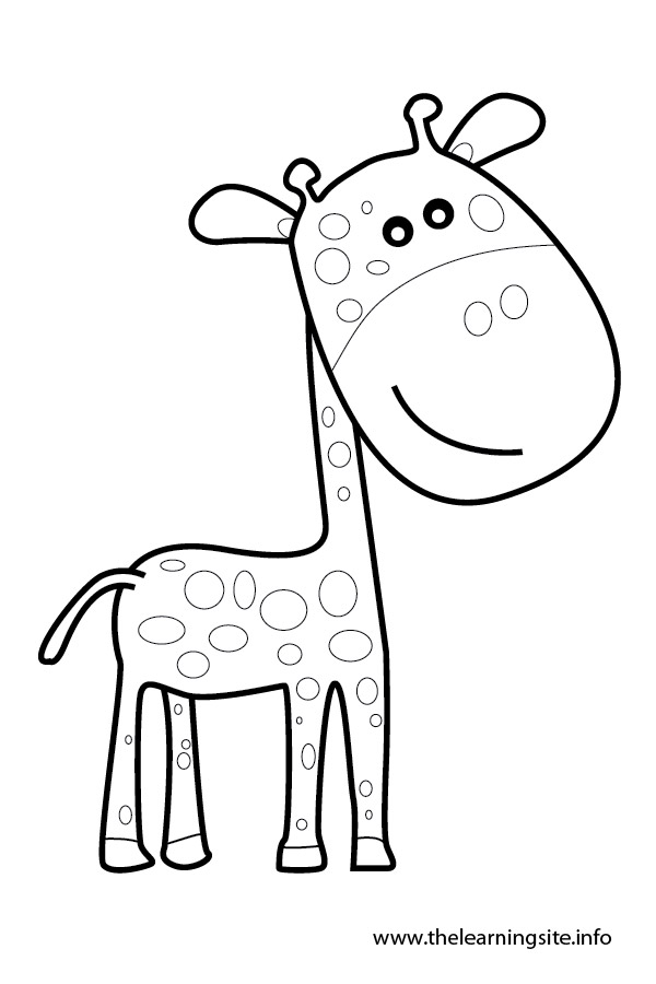 coloring-page-outline-animals-giraffe