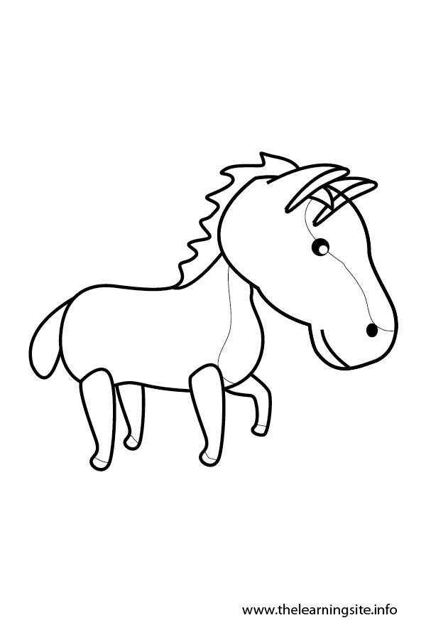 coloring page-outline-animals-horse