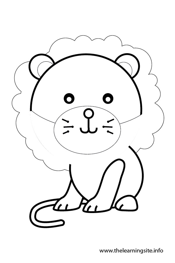 coloring-page-outline-animals-lion