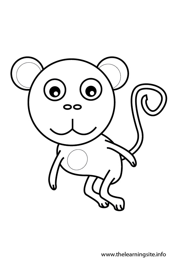 coloring-page-outline-animals-monkey