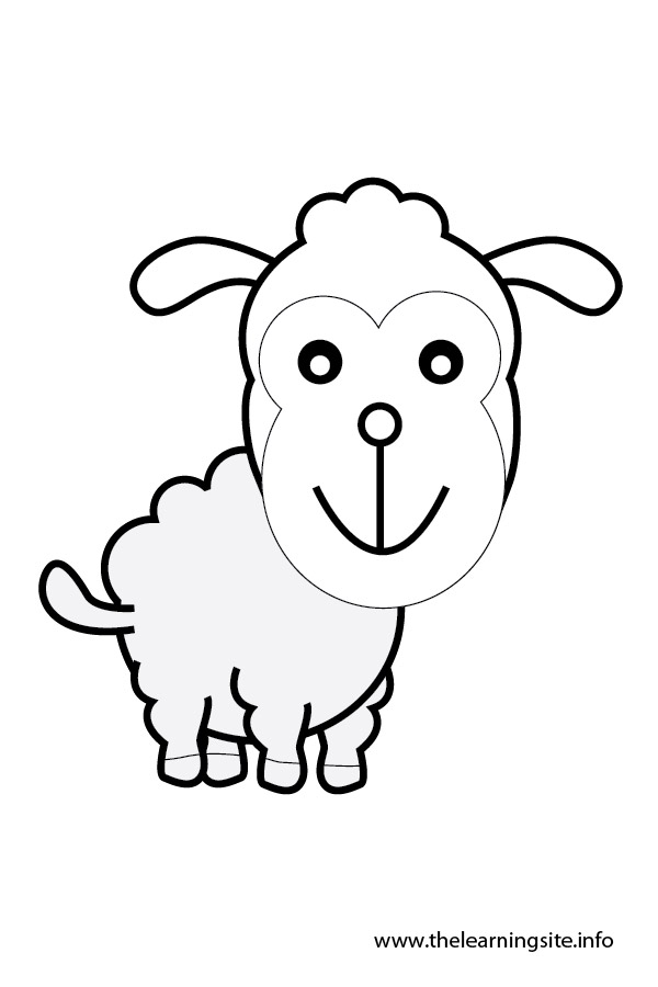 coloring-page-outline-animals-sheep