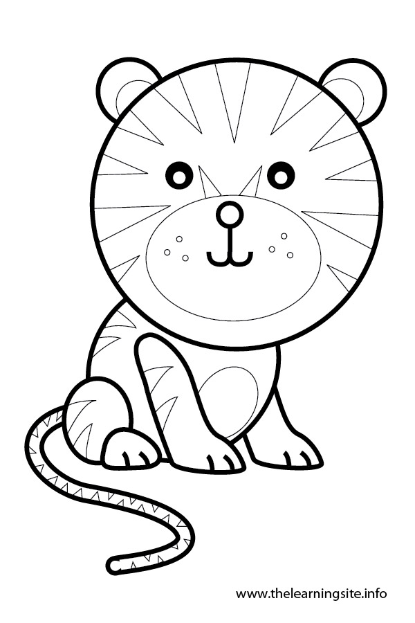 coloring-page-outline-animals-tiger