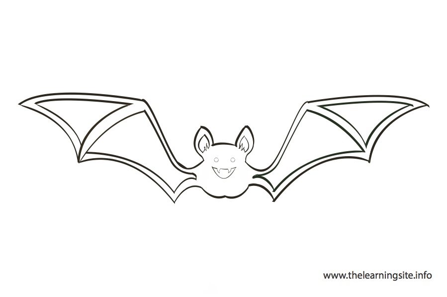 coloring-page-outline-bat