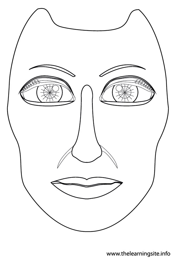 coloring-page-outline-body-parts-face1