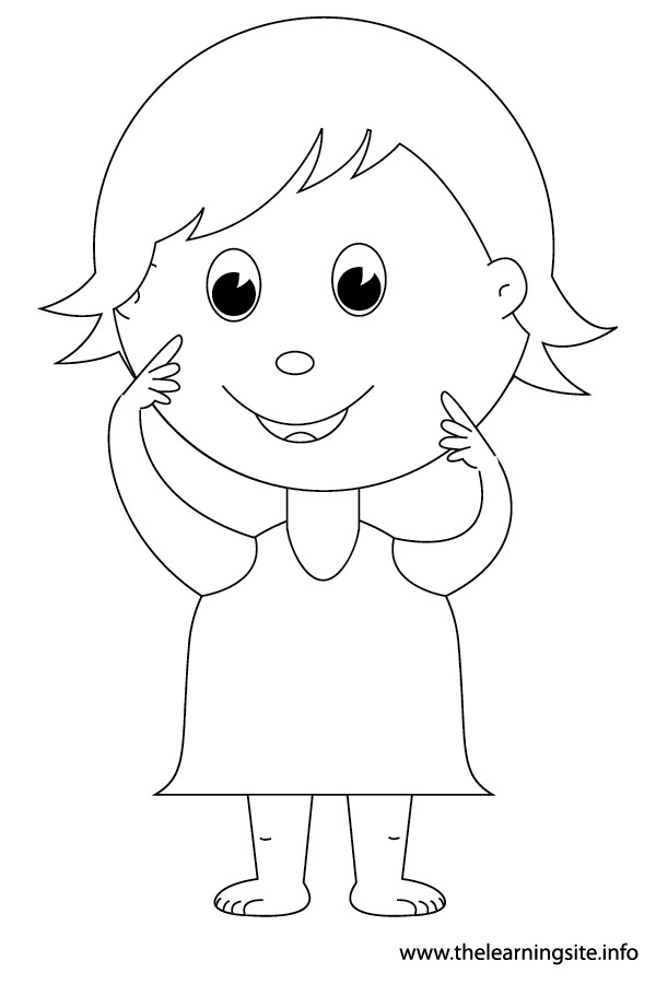 coloring-page-outline-body-parts-kid-pointing-to-face3