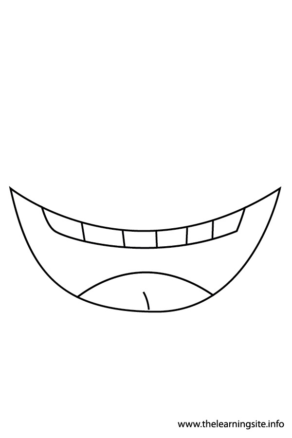 Coloring Page Outline Body Parts Mouth2