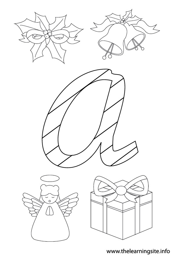 coloring-page-outline-christmas-alphabet-a
