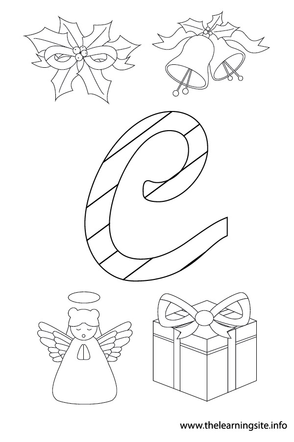 coloring-page-outline-christmas-alphabet-c