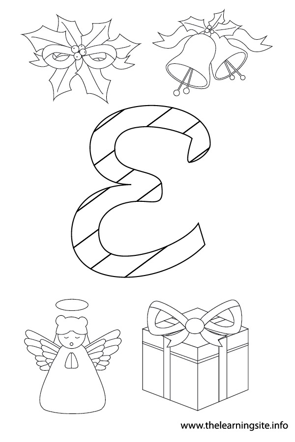 coloring-page-outline-christmas-alphabet-e