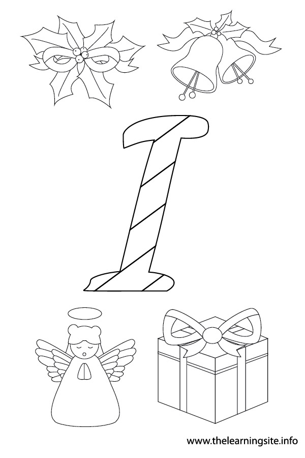 coloring-page-outline-christmas-alphabet-i