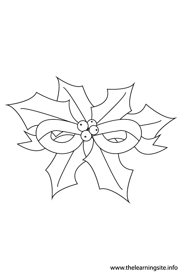 coloring-page-outline-christmas-holly