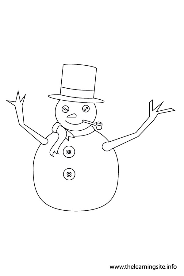 coloring-page-outline-christmas-snowman