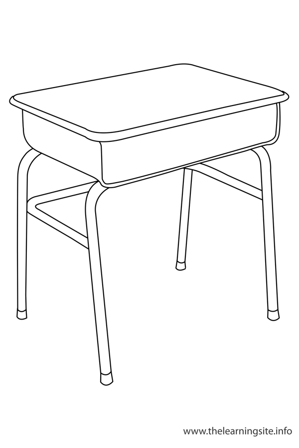 coloring-page-outline-classroom-objects-desk