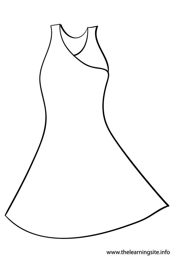 coloring-page-outline-clothes-dress