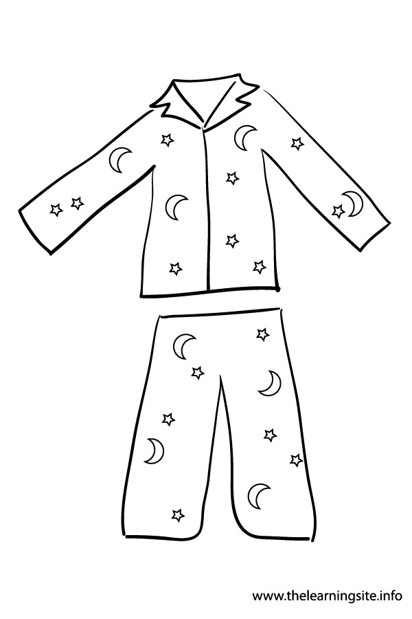 coloring-page-outline-clothes-pajama