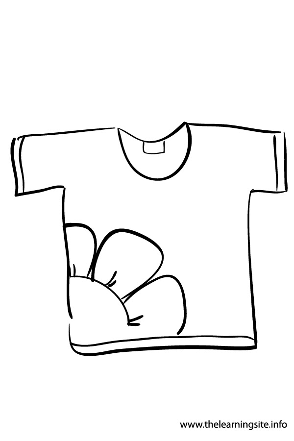 coloring page-outline-clothes-t-shirt