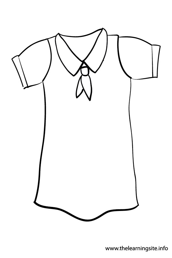 coloring-page-outline-clothes- uniform