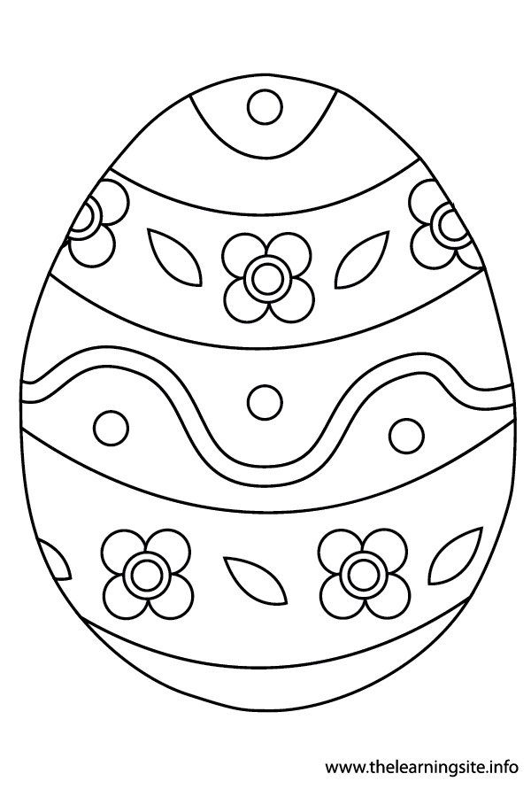 coloring-page-outline easter-egg1