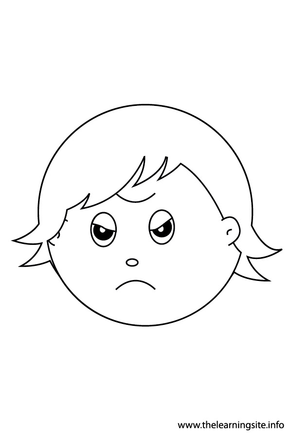 coloring-page-outline-feelings-angry
