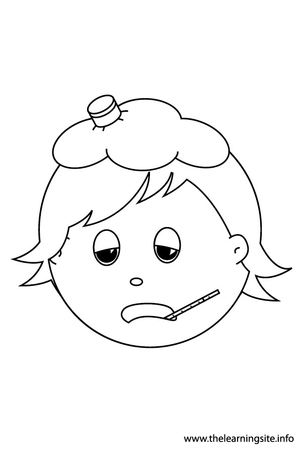 coloring-page-outline-feelings-sick