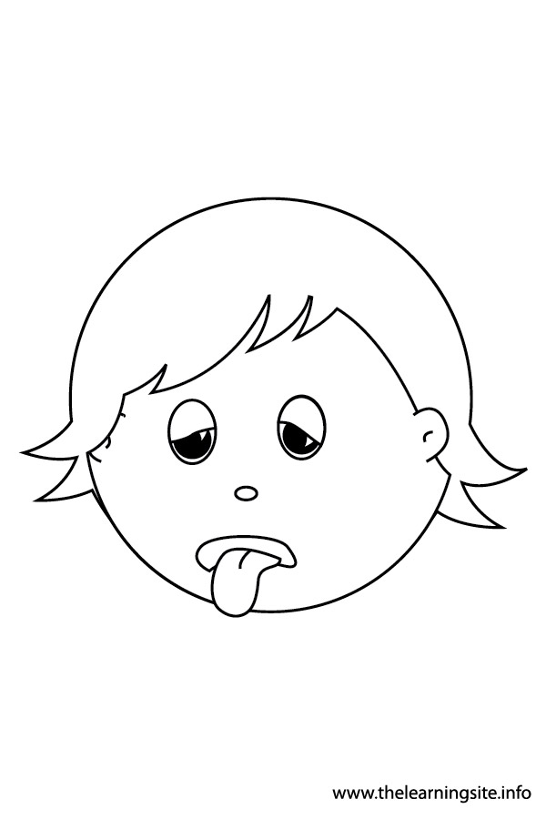 coloring-page-outline- feelings-tired