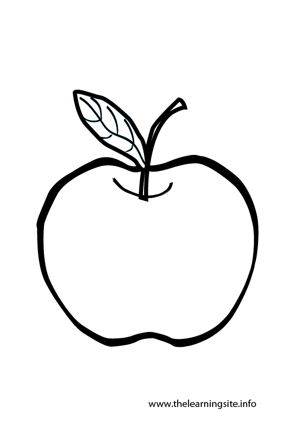 coloring-page-outline-fruits-apple
