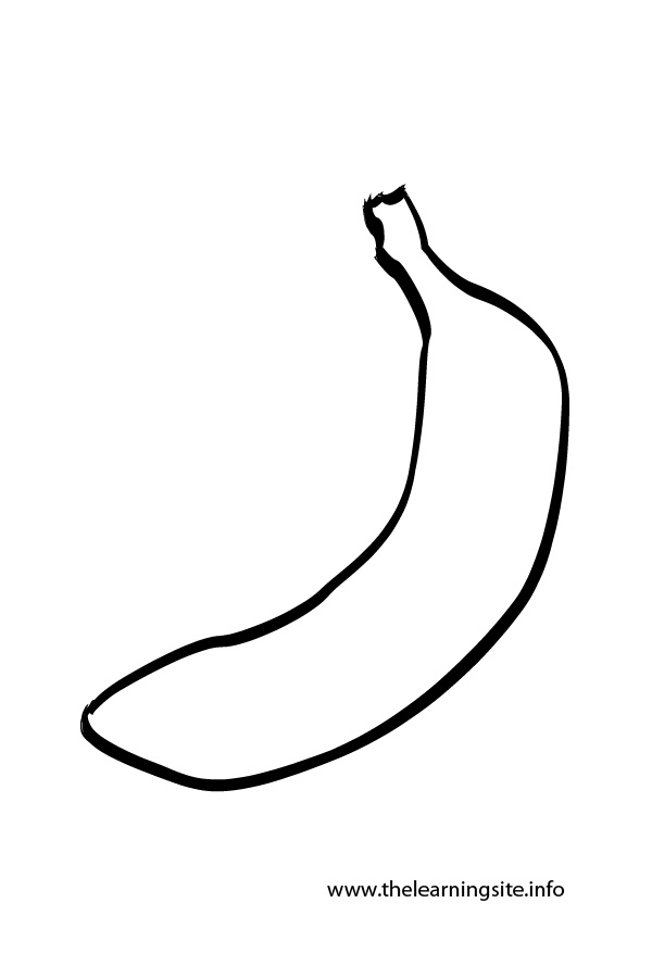 Coloring Page Outline Fruits Banana