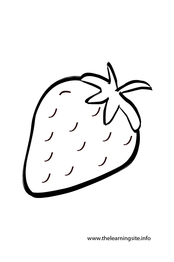 coloring-page-outline-fruits-strawberry