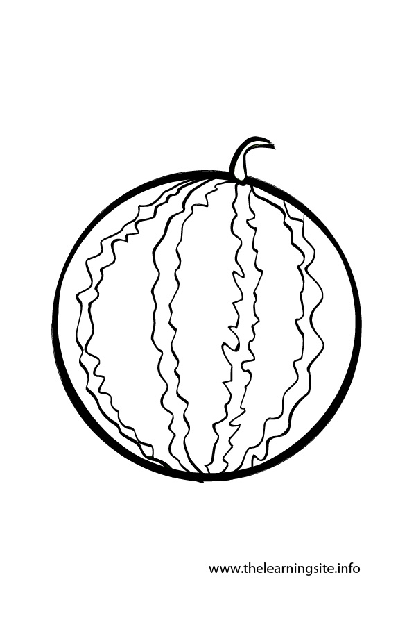 coloring page outline fruits watermelon - Slice Watermelon Coloring Page