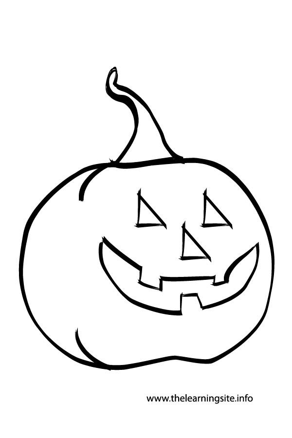 coloring page-outline-jack-o-lantern-pumpkin