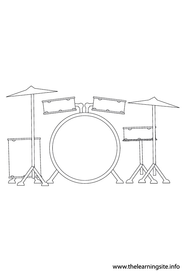 coloring-page-outline-musical-instrument-drum-set