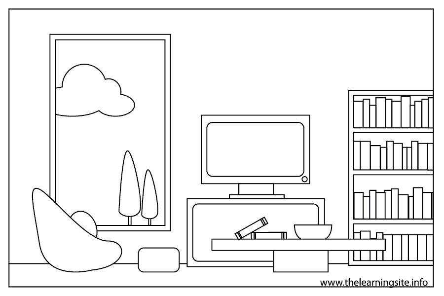 coloring-page-outline-parts-of-a-house-living-room