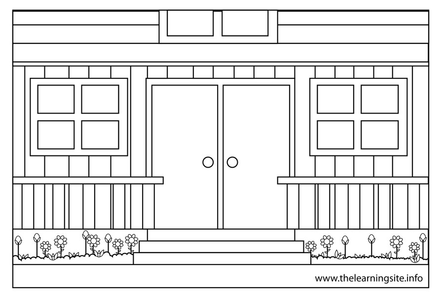 coloring-page-outline-parts-of-a-house-porch