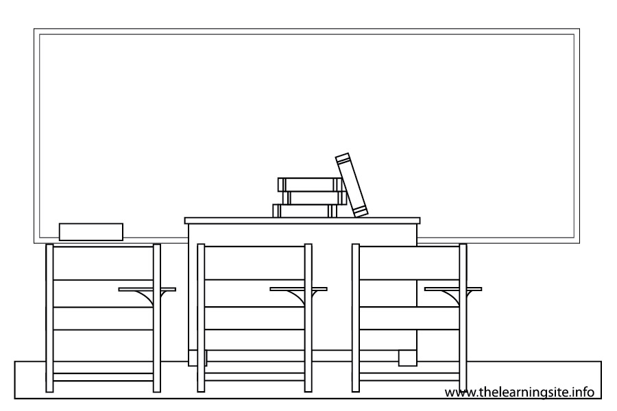 coloring-page-outline-parts-of-a-school-classroom