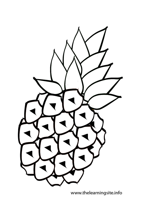 coloring-page-outline-pineapple