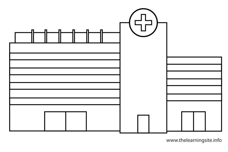 coloring-page-outline-places-hospital