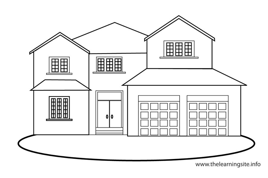 coloring-page-outline-places-house