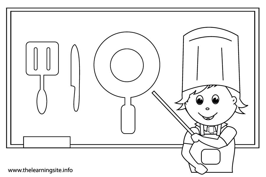 coloring-page-outline-school-subjects-home-economics