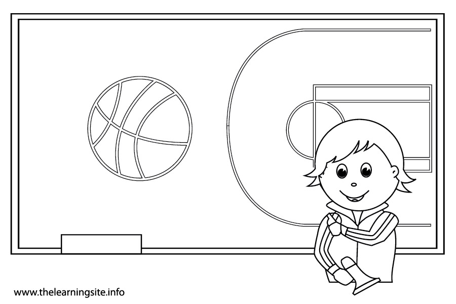 coloring-page-outline-school-subjects-physical-education