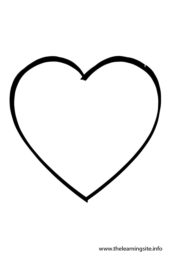 coloring pages heart shapes - photo#13