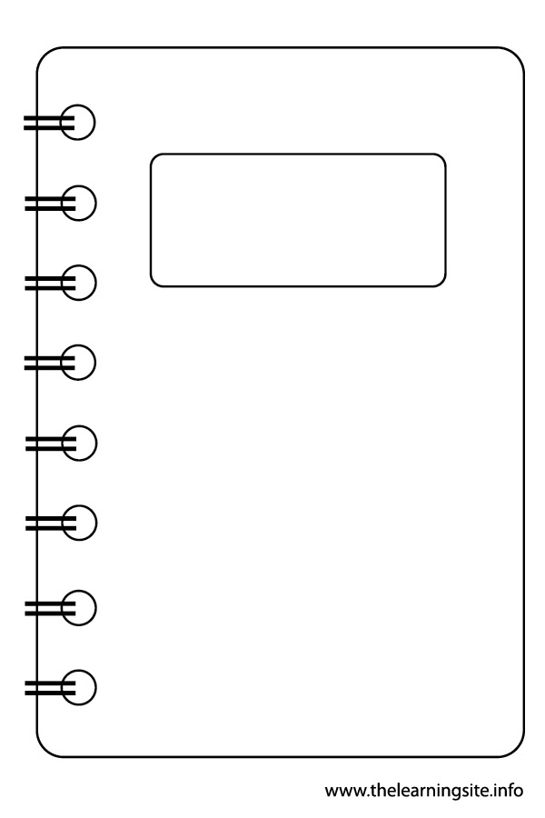 Coloring Page Outline Stationery Notebook