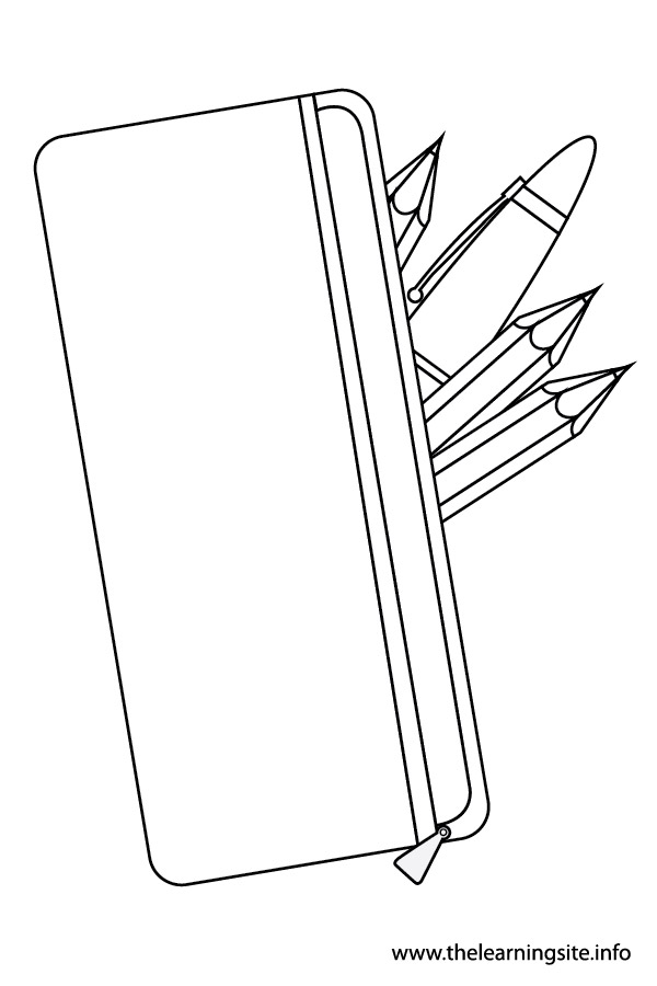 coloring-page-outline-stationery-pencil case