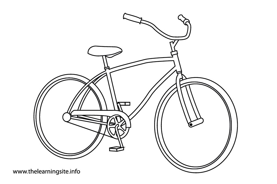 coloring-page-outline-transportation-bicycle