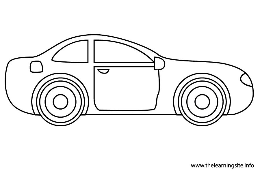 coloring-page-outline-transportation-car