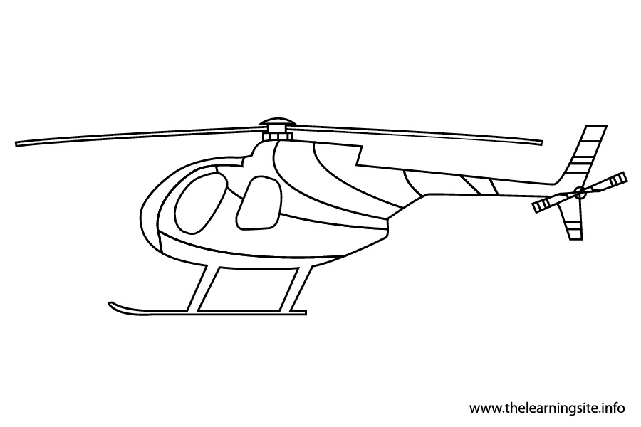 coloring-page-outline-transportation-helicopter