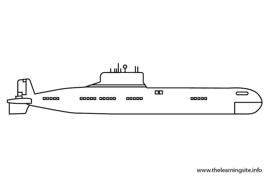 coloring-page-outline-transportation-submarine