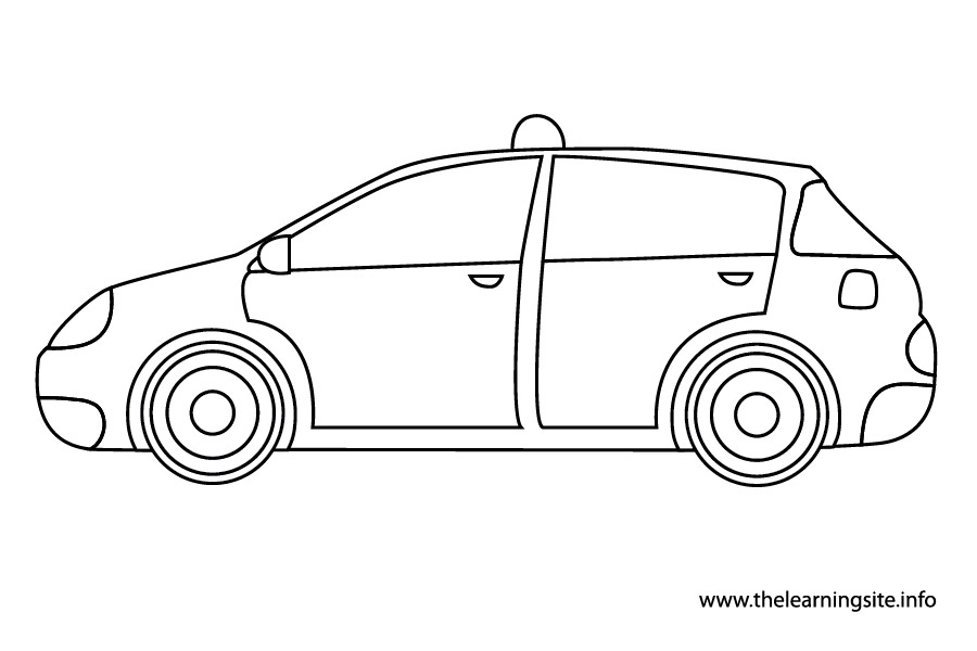 coloring-page-outline-transportation-taxi
