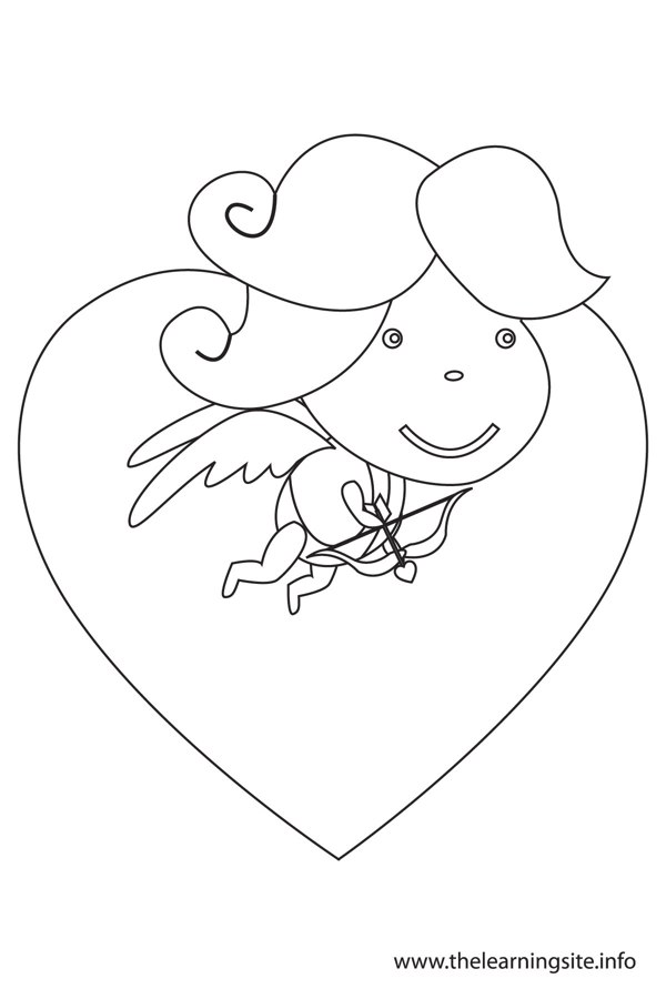 coloring-page-outline-valentinesday-cupid-flying